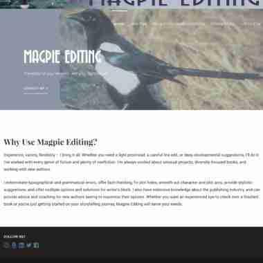 Website Design, Development & Tech Support for http://magpieediting.com/